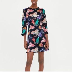 Zara Tiger Print Dress / Size Medium